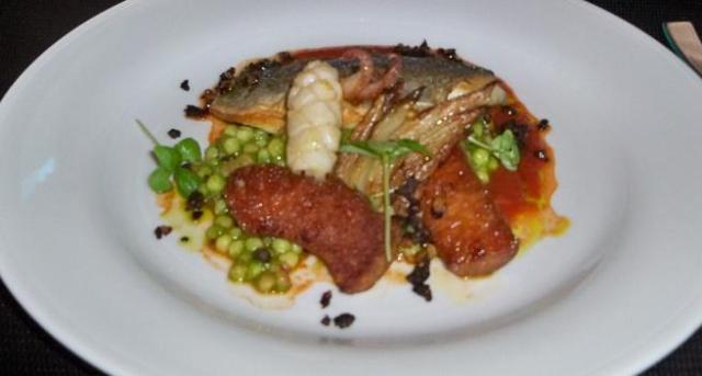 Stock - Sea bream & Calamari marinara