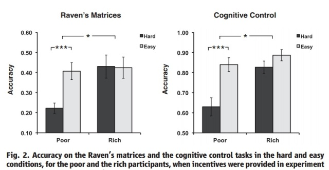Poor and Rich in cognitive tasks
