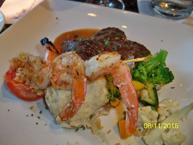 Marlowe - Flat Iron steak & shrimp