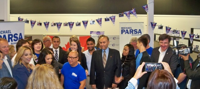 Michael Parsa campaign office opening