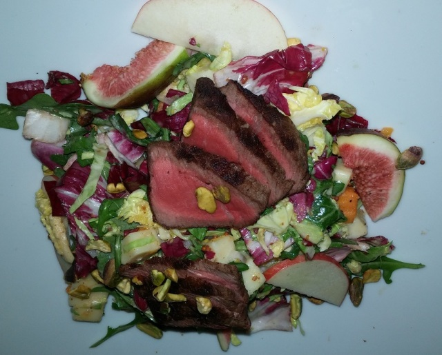 Wish - pan seared steak with arugula