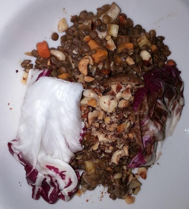 Wish - warm lentil salad