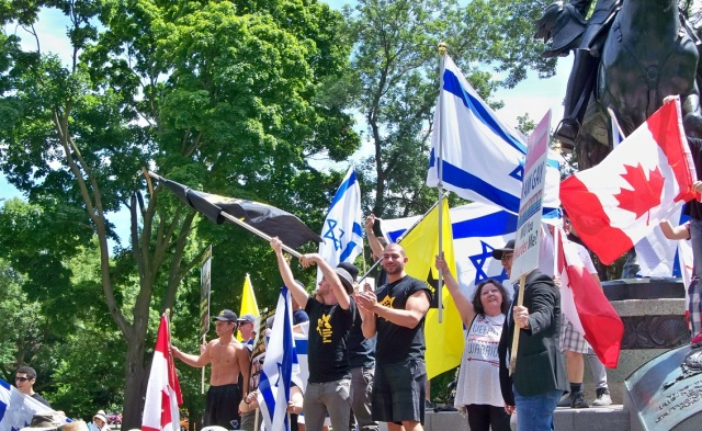 Al-Quds 2016 - flags on Jewish side
