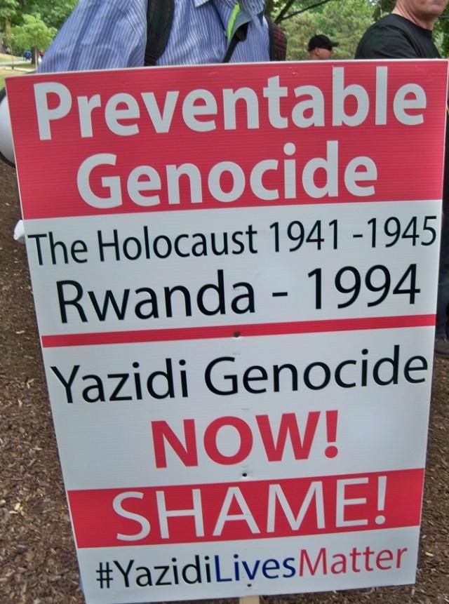 Al-Quds 2016 - Yazidi genocide poster