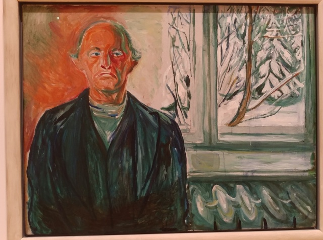 Munch - Self-portrait by the window