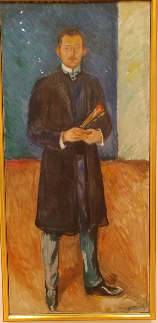 Munch - Self-Portrait with brushes