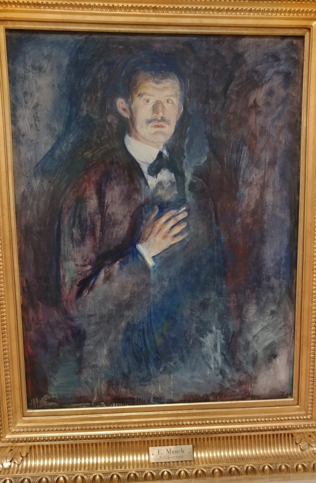 Munch - Self-portrait with cigarette