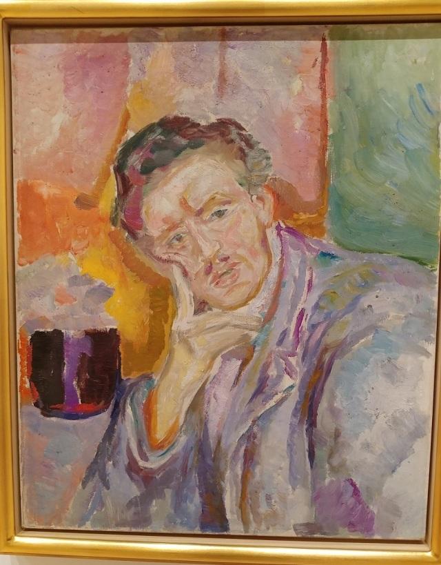 Munch - Self-portrait with hand under cheek