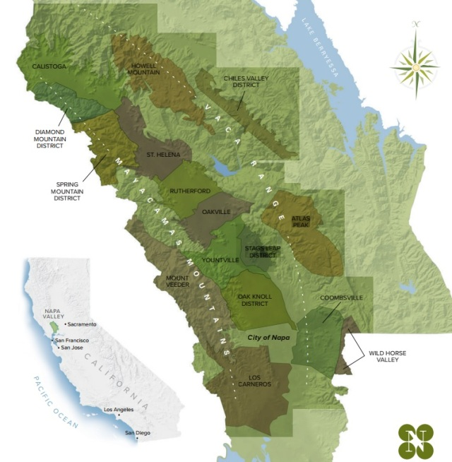 Napa Valley - viticultural areas