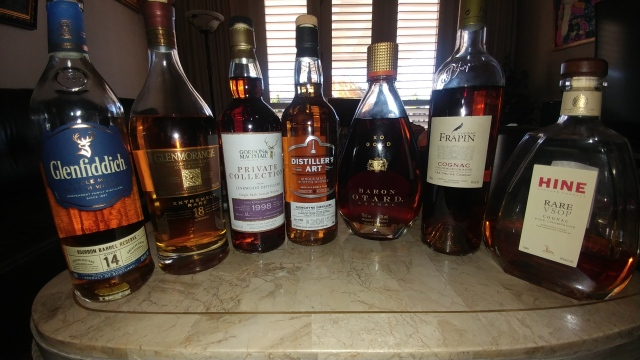 whiskey and cognac