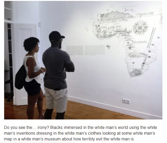 Map of Africa in museum and racist comment