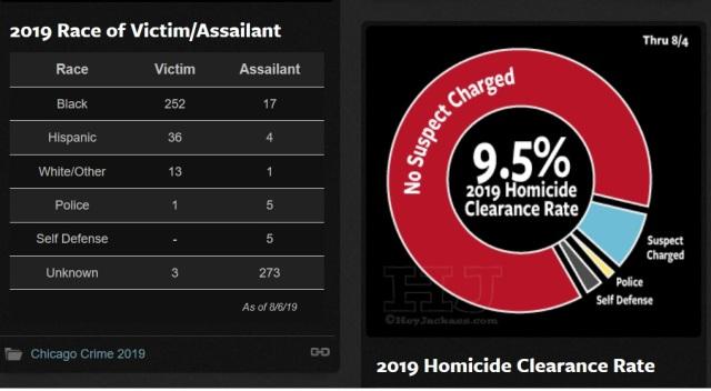 Chicago homicides - 2019 - Victims - Assailants - Clearance