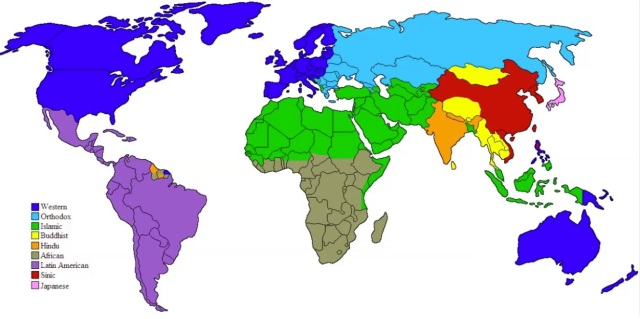 Clash of Civilizations - world map